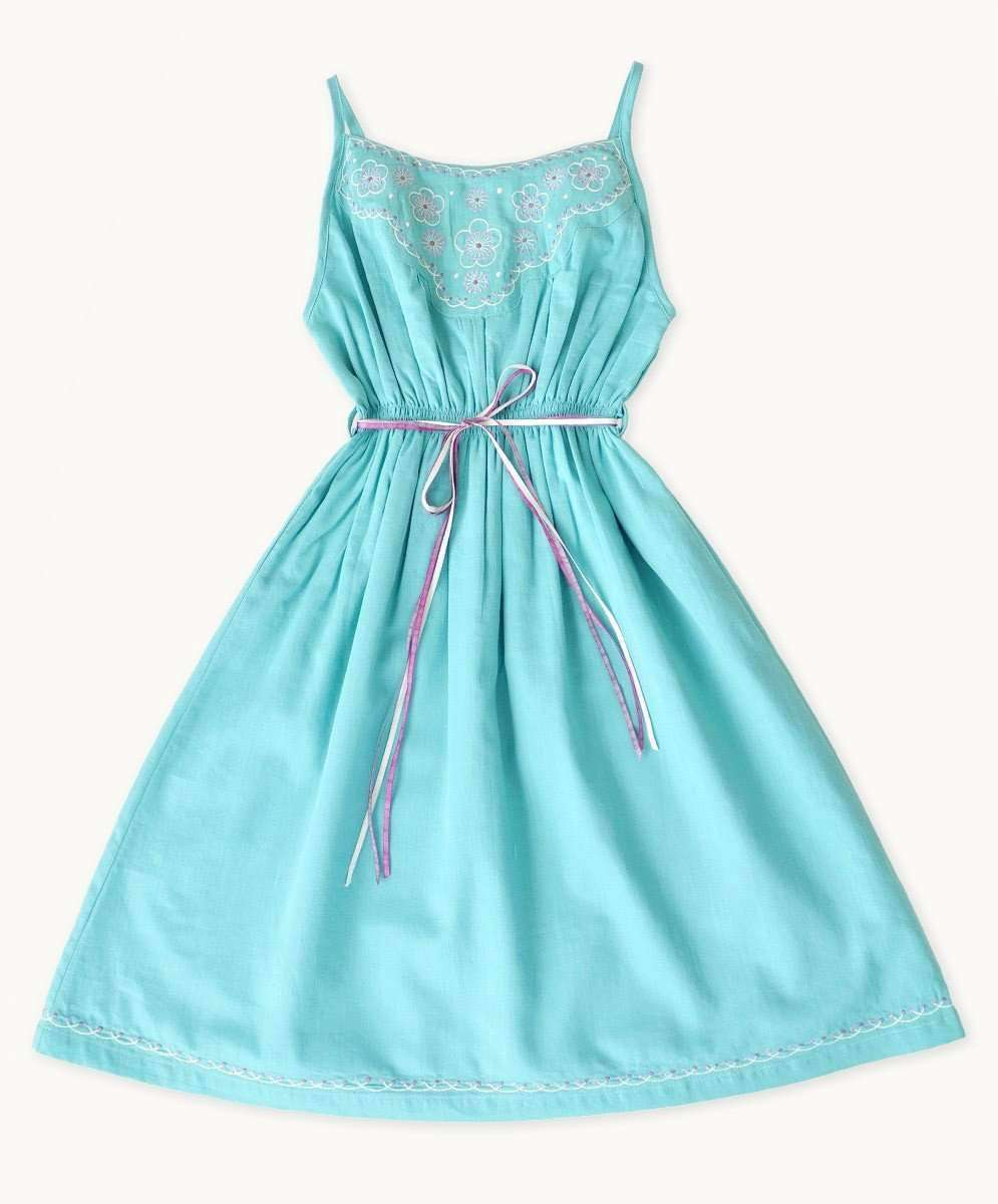 Embroidered Aqua Sundress