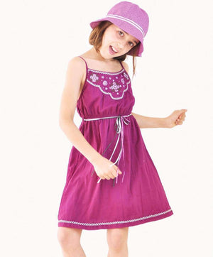 Embroidered Plum Sundress