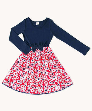 French Daisy Jersey Dress