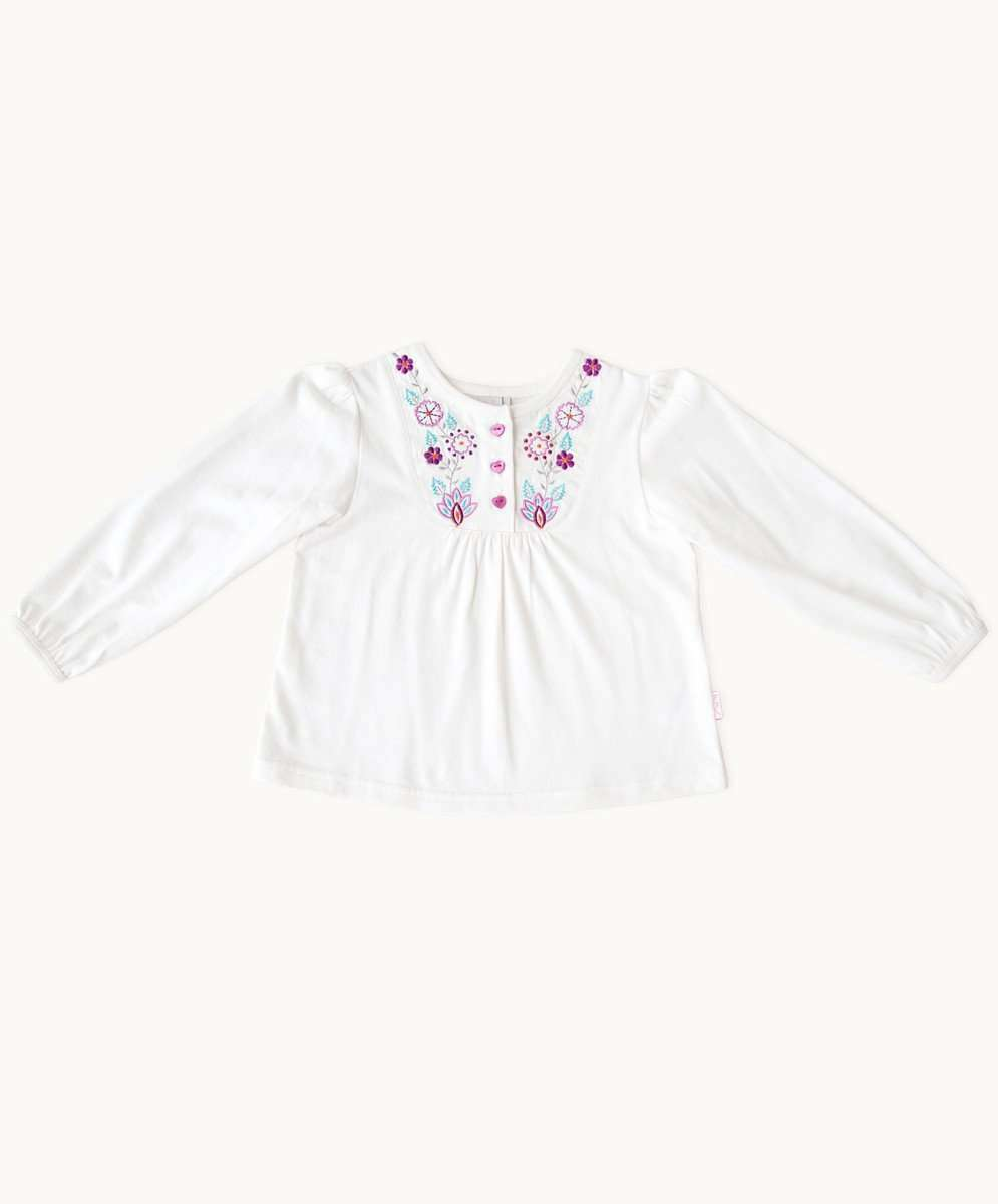Ivory Wonderland Embroidered Toddler Top
