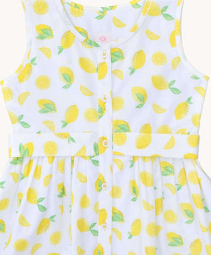 Lemons Fit and Flare Dress