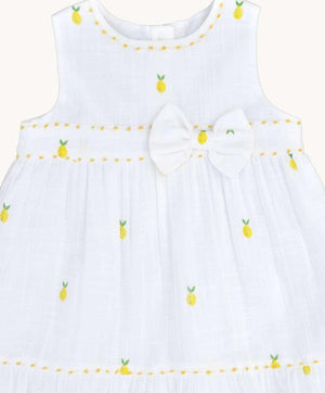 Little Lemon Cotton Dress