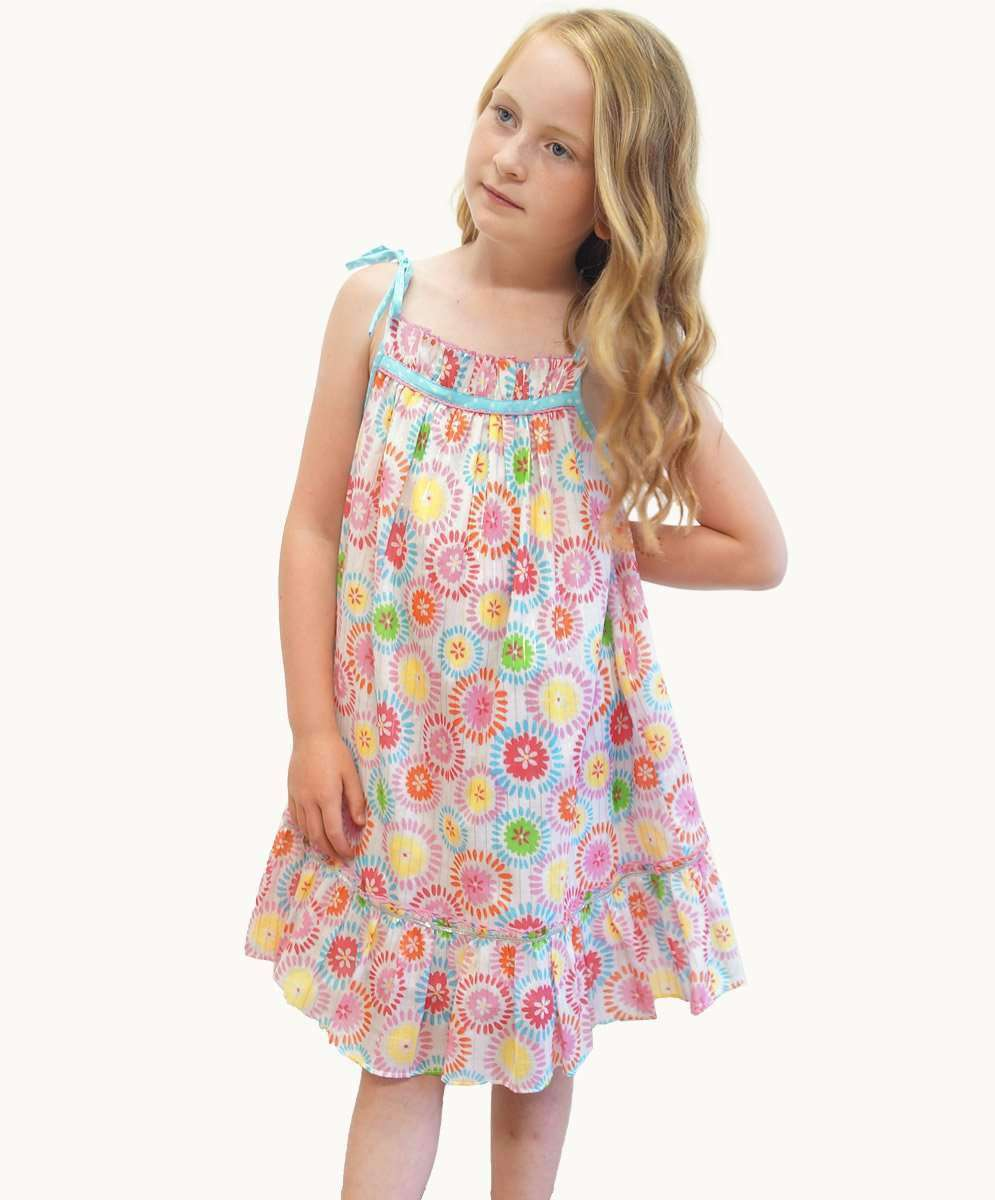 1acc49b3fb Lolly Strappy Dress Girls Winter Designer Clothing Fair Trade Fashion -  Eternal Creation