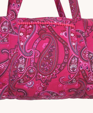 Medium Magenta Paisley Weekend Bag