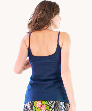 Navy Blue Cotton Singlet