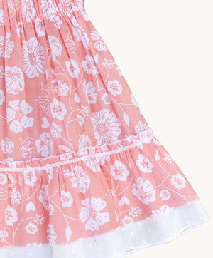 Peachy Floral Skirt