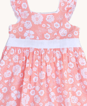 Peachy Floral Summer Dress