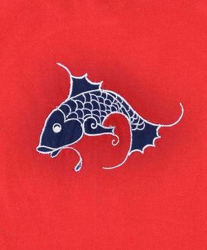 Red Fish Boys Cotton T-Shirt