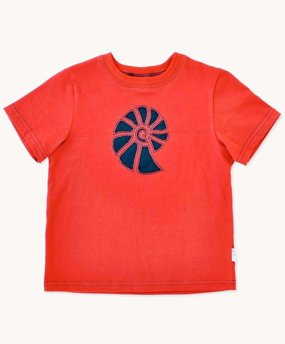 Red Navy Ammonite T-Shirt