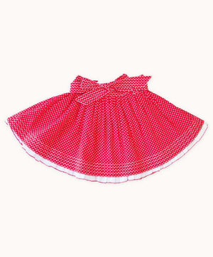 Red Polkadot Ruffle Skirt