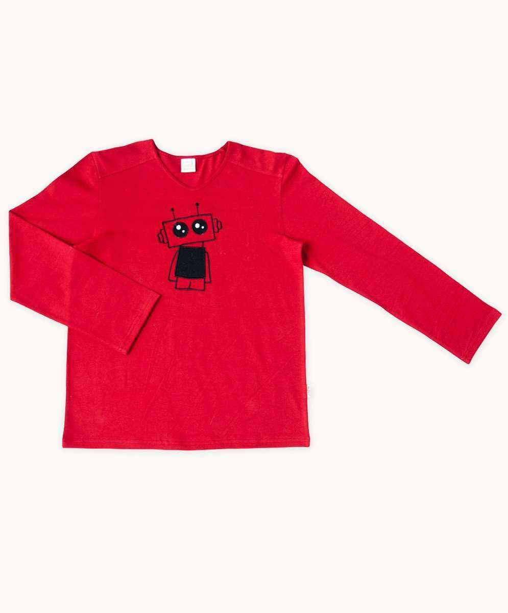 Red Robot Winter T-Shirt