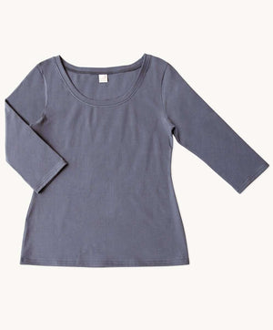 Slate Scoop Neck Top