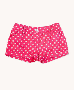 Stellar Berry Cotton Shorts