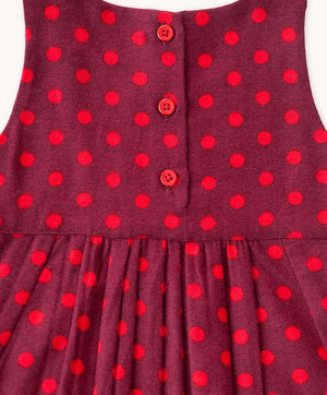 Zahara Polka Dot Pinafore