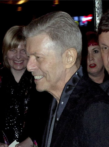 david bowie wearing skull scarf by alexander mcqueen