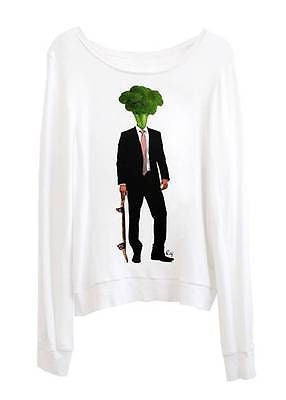 Broccoli Head Skater Business Surfer Skater Loose Fitting Slouchy Sweater Tshirt