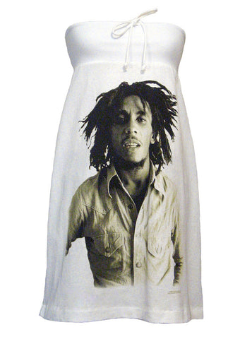 Bob Marley Sepia Strapless Dress