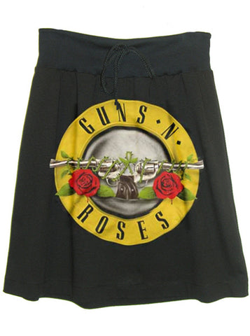 Guns N' Roses Hard Rock Shield Print Sweat Skirt