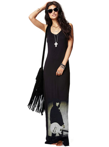 Joan Jett Runaways Rocker Chick Maxi T-Shirt Tank Dress
