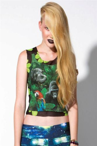 Exotic Animals Safari Sheer Mesh Tank Top - IDILVICE Clothing - 1