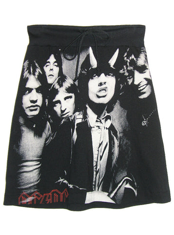 AC/DC Heavy Metal Photo Print T-Shirt Skirt