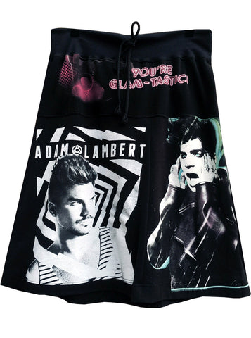 Adam Lambert T-Shirt Patchwork Skirt