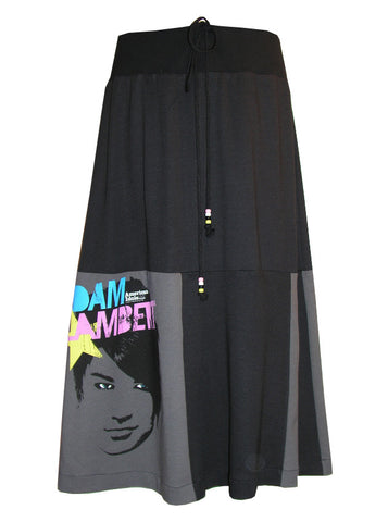 Adam Lambert Long Maxi Patchwork Skirt