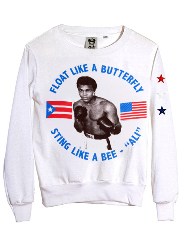 Women's Muhammad Ali Athletic Retro Jumper - IDILVICE Clothing