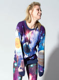 Alien in Galaxy All Over Print Long Sleeve Jumper - IDILVICE Clothing - 2