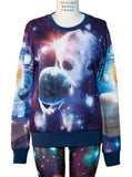 Alien in Galaxy All Over Print Long Sleeve Jumper - IDILVICE Clothing - 4