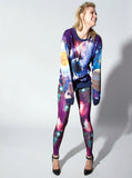 Alien in Galaxy All Over Print Long Sleeve Jumper - IDILVICE Clothing - 5
