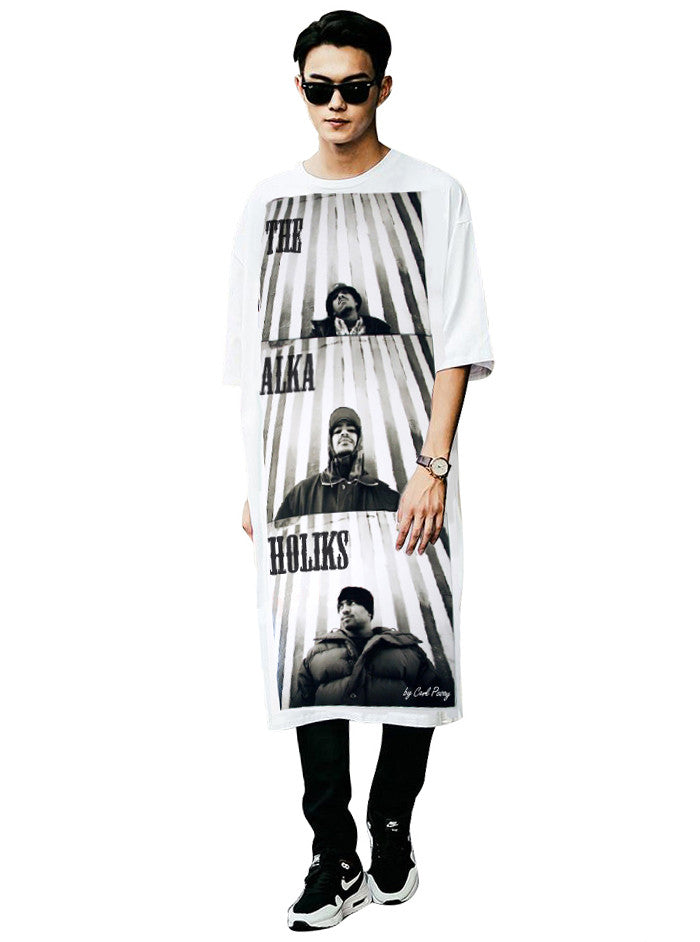 The Alkaholiks Carl Posey Photo Cotton Men's Long T-Shirt