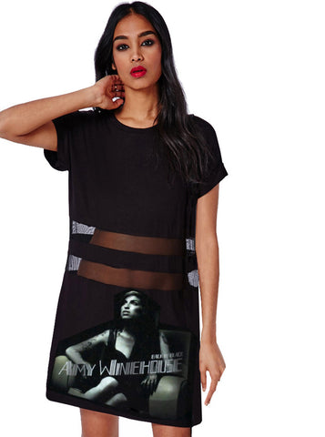 Amy Winehouse Peek A Boo T-Shirt Dress