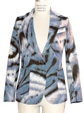 Animal Print Stretch Cotton Canvas Blazer - IDILVICE Clothing - 4