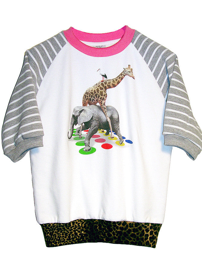 Exotic Animals Play Twister Sweatshirt Top - IDILVICE Clothing