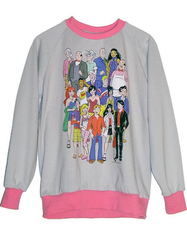 Archie Comics Cast Two Tone Sweatshirt - IDILVICE Clothing