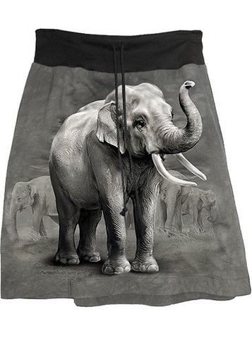 Asian Elephant Photo Print T-Shirt Skirt