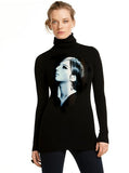 Barbra Streisand Profile Turtleneck Sweater - IDILVICE Clothing - 2