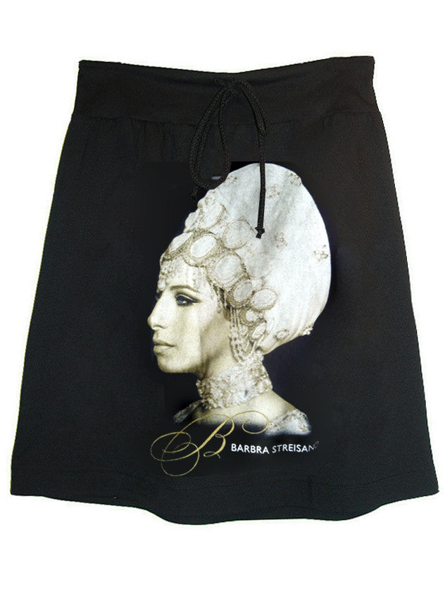 Barbra Streisand Turban Photo Printed Skirt - IDILVICE Clothing