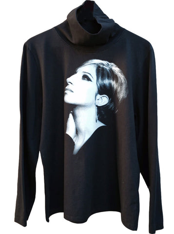 Barbra Streisand Profile Turtleneck Sweater