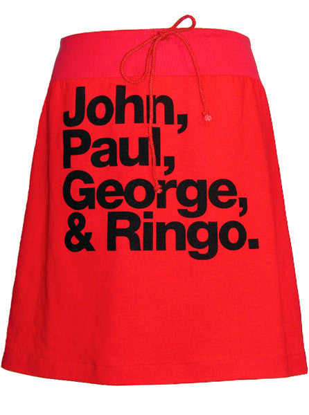 The Beatles John, Paul, George & Ringo T-Shirt Skirt - IDILVICE Clothing - 2