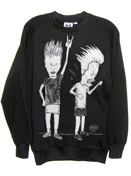 Beavis And Butthead Organic French Terry Sweatshirt - IDILVICE Clothing - 1