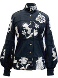 Betty Boop Hawaii Surf Patch Work Top Blouse - IDILVICE Clothing - 1