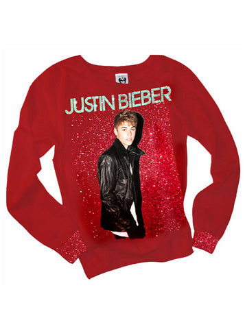 Justin Bieber Under The Mistletoe Glitter Jumper