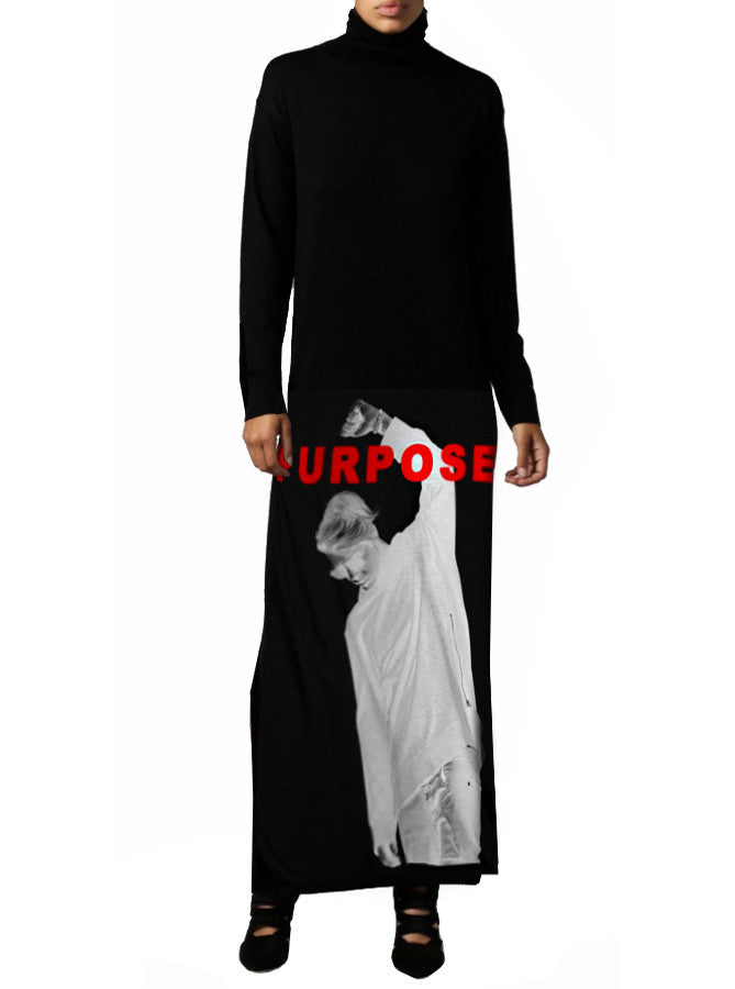 Justin Bieber Purpose Maxi Mockneck Dress - IDILVICE Clothing