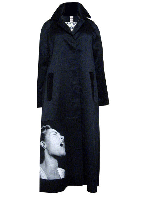 Billie Holiday Lace Satin Trench Coat - IDILVICE Clothing - 1