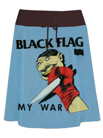 Black Flag My War Pop Art Print T-Shirt Skirt