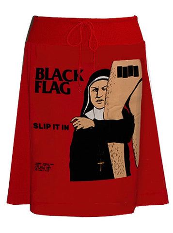 Black Flag Slip It In Pop Art Print T-Shirt Skirt