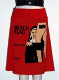 Black Flag Slip It In Pop Art Print T-Shirt Skirt - IDILVICE Clothing - 2