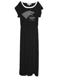 Game Of Thrones Winter Is Coming Stark Long Maxi Dress Gown - IDILVICE Clothing - 3